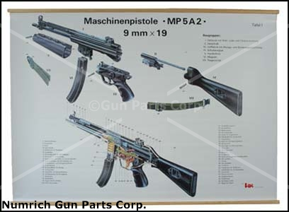 "Sub Assembly Chart, MP5A2, German (Color, 37"" High x 46-1/2"" Wide)"