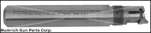 "Bull Barrel, 5-1/2"", .22 LR, Stainless Steel, Less Front Sight"