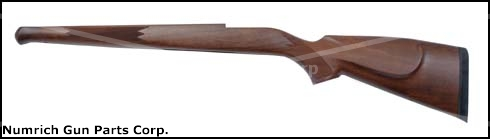 Stock, Sporter, Checkered Walnut, RH Cheekpiece, Schnabel & Rifle Pad