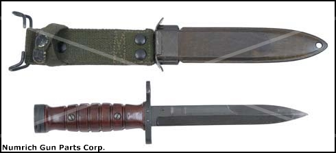Bayonet & Scabbard, Dutch, M4, VG to Exc.