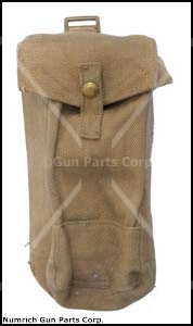 Magazine Pouch w/ Snap Button Closure, Khaki Canvas, WWII Dated, Good to VG