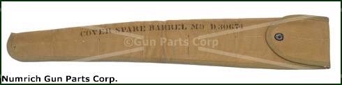 Barrel Cover, M9 Spare, Khaki Canvas, Unissued
