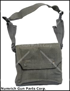 Magazine Pouch, NATO SMG, 4 Pocket, OD Canvas, Designed to Hold 8 Magazines