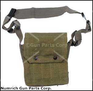 Magazine Pouch, NATO Rifle, 5 Pocket, OD Canvas, Designed to Hold 5 Mags.