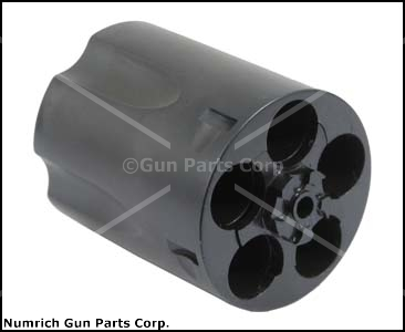 Cylinder Assembly, .38 S&amp;W Spec, 5 Shot, Fluted, Glass Bead Finish, Blued