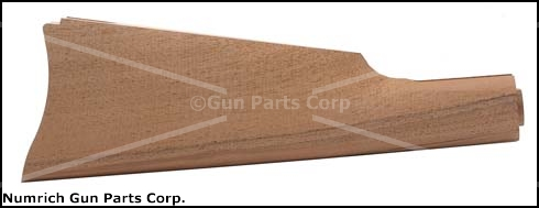 Stock, Straight Grip, Walnut, Unfinished, Inletted for Saddle Ring Buttplate
