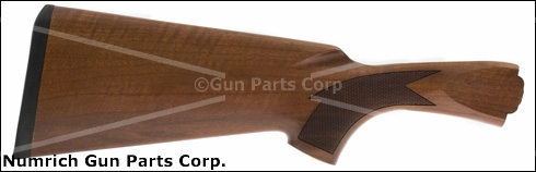 Stock, 12 Ga., Checkered Walnut, Satin Finish, w/ Rifle Pad, Made In Turkey, New