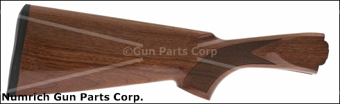 Stock, 12 Ga., Checkered Walnut, Gloss Finish, w/ Rifle Pad, Made In Turkey, New