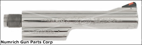 "Barrel, .44 Mag, 6-1/2"" Nickel (Deluxe Engraved)"