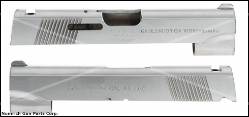 Slide, .45 ACP, Stripped, Stainless (Marked Llama Cal. .45 IX-D)