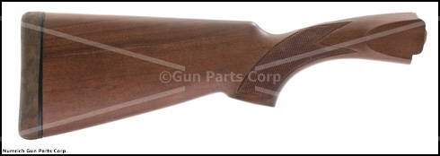 Stock, 12 Ga., Checkered Hardwood, Satin Finish, w/ Churchill Logo Rec Pad, New
