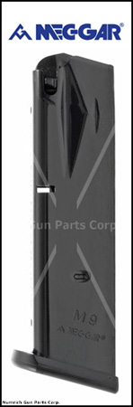 Magazine, 9mm, 15 Round, Phosphate, New (Mec-Gar)