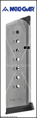Magazine, .45 ACP, 8 Round, Stainless Steel 17-7, New (Mec-Gar)
