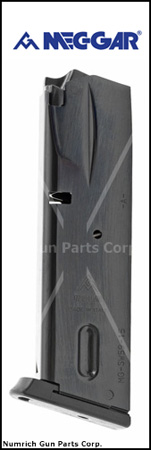 Magazine, 9mm, 15 Round, Blued, New (Mec-Gar)