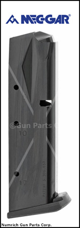 Magazine, 9mm, 17 Round, New, Blued (Flush-Fit; Mec-Gar)