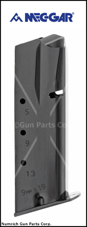 Magazine, 9mm, 13 Round, Double Column, New, Blued (Mec-Gar)