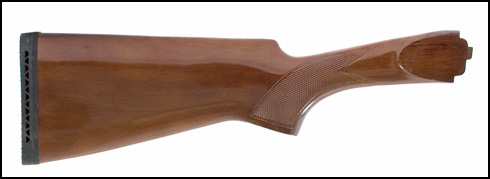 Stock, 12 Ga., Non-Auto Eject, Walnut, Checkered, Gloss Finish, Recoil Pad