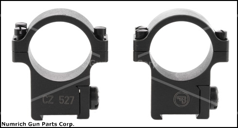 "Scope Rings, Steel 1"", Split, Medium, Matte Black, Factory Original, New"