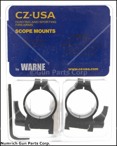 Scope Rings, Warne, 30mm, Medium, Matte Black, Factory Original, New