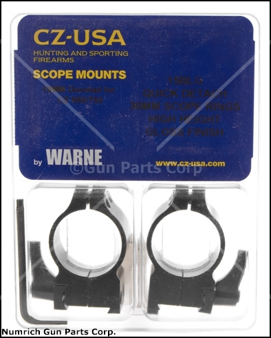 Scope Rings, Warne, 30mm, High, Gloss Black, Factory Original, New