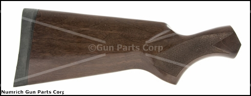Stock, Walnut, Cut-Checkered, Gloss Finish, Fluted Comb, Non-Vent Recoil Pad