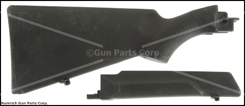 Stock & Forend Set, 12 Ga., Black Synthetic, Used - -