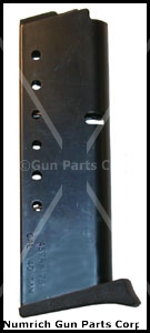 Magazine, 9mm/.40 S&W, 7 Round, Blued, New (w/ Finger Grip Extension; Factory)