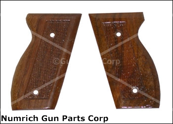 Grips, 2 Screw Type, Checkered Walnut