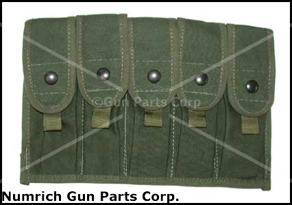 Magazine Pouch, 5 Pocket for 20 Round Magazine, OD Canvas