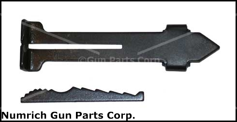 Rear Sight Leaf Assembly- Complete w/Elevator, Designed For Std 3/8'' Dovetails