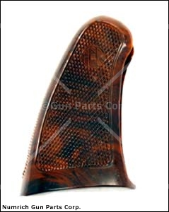 Grip, 1 Piece, Checkered Plastic, Brown