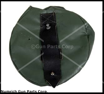 Drum Pouch, OD Vinyl, Orig German Military, New, For 75 Rd. 7.62 x 39 AK Drums