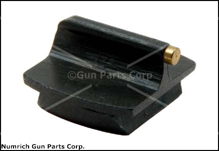 Front Sight, #3 1/16'' x .290 High Gold Bead, Blued Steel 3/8'' Dovetail