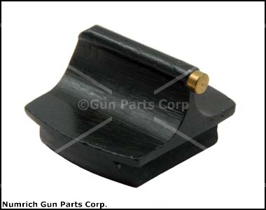 Front Sight, #3 1/16'' x .330 High Gold Bead, Blued Steel 3/8'' Dovetail