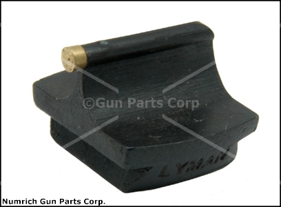 Front Sight, 3/8&#39;&#39; Dovetail, Lyman - 1/16&#39;&#39; x .360&#39;&#39; High Gold Bead. Blued Steel