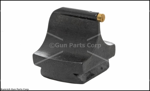 Front Sight, #3 1/16'' x .500 High Gold Bead, Blued Steel 3/8'' Dovetail
