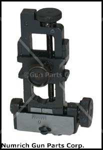 Rear Sight Assembly - New, Original, Blued, Adjustable For Windage & Elevation