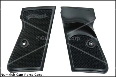 Grips w/ Thumbrest & Screws & Escutcheons, Black Plastic, Original