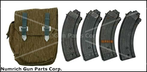 Magazine (4) &amp; Pouch Set, .22 LR, 15 Round