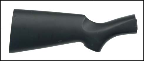 Stock, 12 Ga., Black Painted Hardwood, Less Recoil Pad