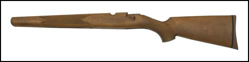Stock, Long Action, Left Hand, Checkered Walnut, w/ Rifle Pad
