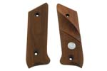 Grips, Target, Checkered Walnut w/Thumbrest & Sile Medallion