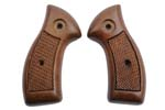 Grips, Checkerd Walnut, Less Medallions & Escutcheons, Std. Contour, Orig., New