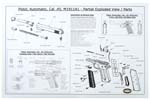 "Partial Exploded View & Parts List, B/W, 22"" x 34"""