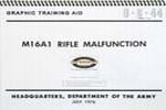1050370 M16A1 Malfunction Graphic Training Aid Booklet,Spiral Bound,Color 8-1/2