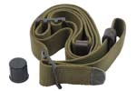 "Sling, 1"" Canvas w/ Plastic Muzzle Cap, Original IMI, Excellent to Like New Cond"