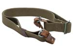 Sling, Dog Collar, Orig., Canvas w/ Leather Loops & Metal Buckles,Color Varies