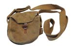 Drum Pouch, Khaki Canvas, Barrel & Loop Closure, Used, Good to VG