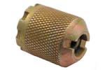 Blank Firing Device, Style 4, .795&quot; OD, Coarse Knurling, Slotted Top, 8 Notch