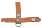 Bayonet Frog w/D-Ring & Snap-Button Closure, Tan Leather, Orig., New